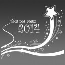 Sous verres Bonne année, meilleurs vœux4 - gravure miroir acrylique