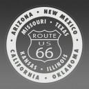 Route 66 et ses états - gravure miroir acrylique