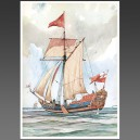 Mary, 1647 - affiche voilier, bateau
