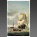 Scene d'un navire Hollandais, XVII siècle