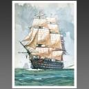 Victoire, 1765 - affiche voilier bateau navire