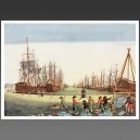 Baleinier, XVIIIe siècle - affiche voilier bateau navire