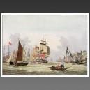 Thames, 1780 - affiche voilier bateau navire