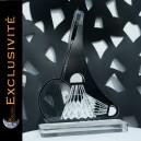 Trophée badminton, raquette