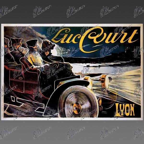 luc court lyon impression grand format affiche poster automobile. Black Bedroom Furniture Sets. Home Design Ideas