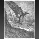 Don Quichotte, l'attaque des moulins à vent